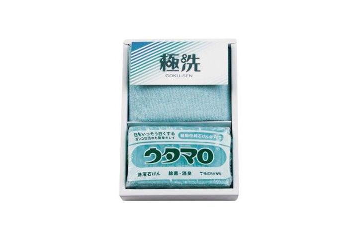 ウタマロ石鹸&マイクロファイバーハンカチセット