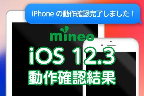 iOS 12.3のmineoでの動作確認結果